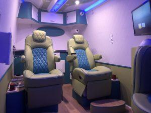 inside IV Drip Concierge Van